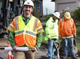 Civil engineer Jason Branstetter on location during construction in Gresham.