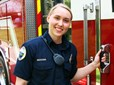 Gresham firefighter Chandra Holestine on duty.