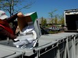Paper shredding at Earth Day recycling event