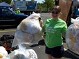 Plastic bag recycling at the Earth Day recycling event